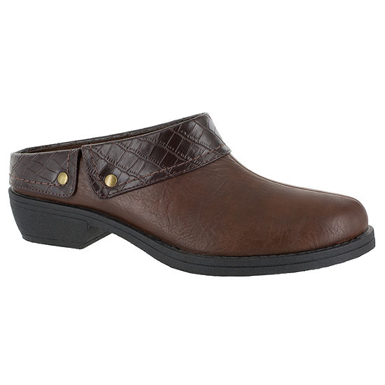 Easy Street Womens Becca Clogs Round Toe