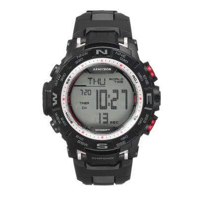 Armitron Prosport Mens Black Strap Watch-40/8410sbk