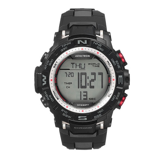 Armitron Pro Sport Mens Digital Black Strap Watch-40/8410sbk