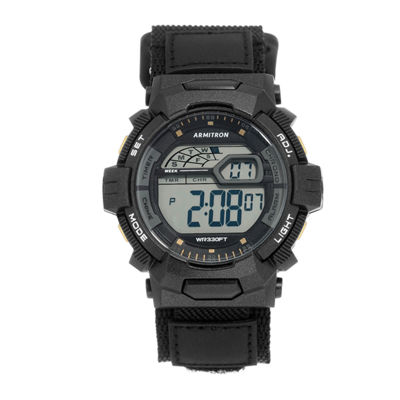 Armitron Prosport Mens Black Strap Watch-40/8412bgd