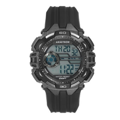 Armitron Prosport Mens Black Strap Watch-40/8411gbk
