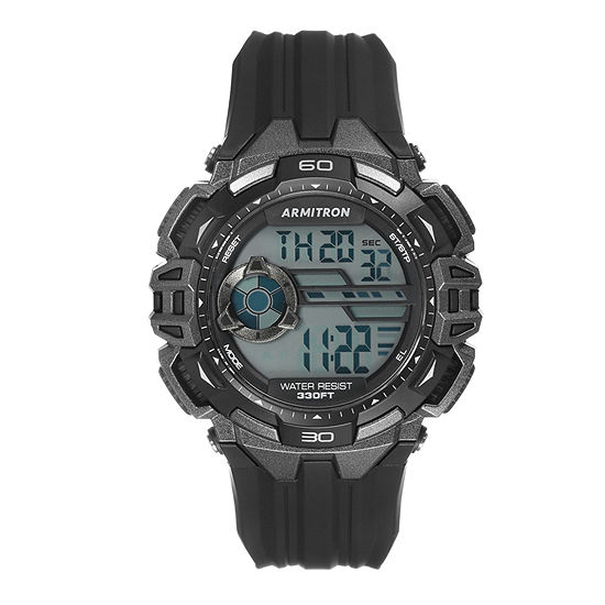 Armitron Pro Sport Mens Black Strap Watch-40/8411gbk