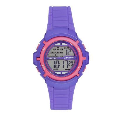 Armitron Prosport Womens Purple Strap Watch-45/7045pur