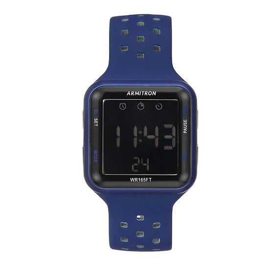 Armitron Pro Sport Unisex Blue Strap Watch-40/8417blu