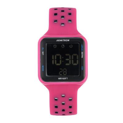 Armitron Prosport Unisex Pink Strap Watch-40/8417mag