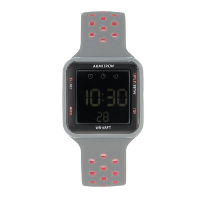 Armitron Prosport Unisex Gray Strap Watch-40/8417pgy