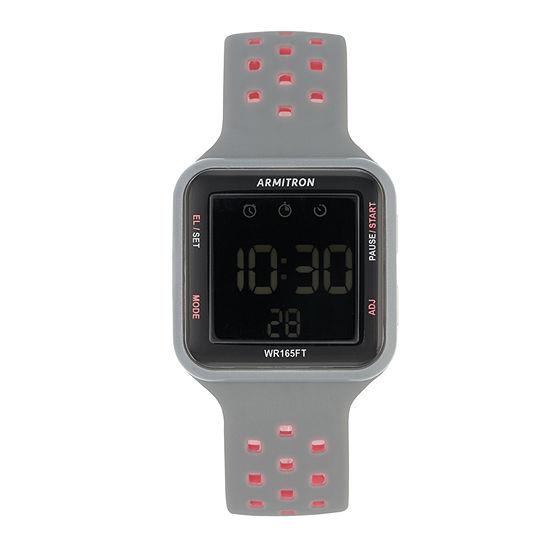 Armitron Pro Sport Mens Digital Gray Strap Watch-40/8417pgy