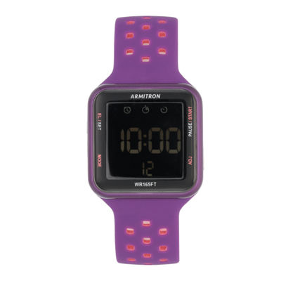 Armitron Prosport Unisex Purple Strap Watch-40/8417pur