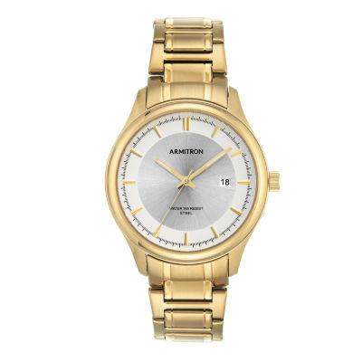 Armitron Mens Gold Tone Bracelet Watch-20/5230svgp