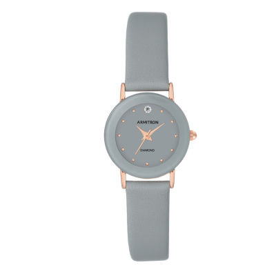 Armitron Womens Gray Strap Watch-75/2447gyrggy