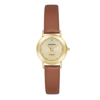 Armitron Womens Brown Strap Watch-75/2447chgpbn