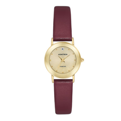 Armitron Womens Red Strap Watch-75/2447chgpby