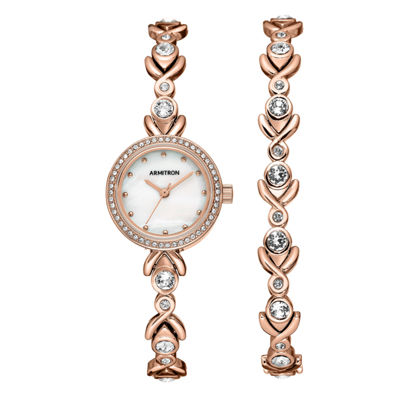 Armitron Womens Rose Goldtone Bracelet Watch-75/5544mprgst
