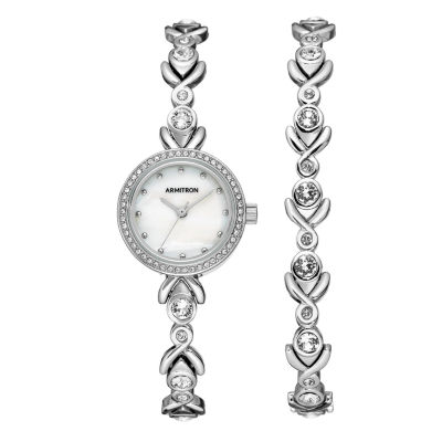Armitron Womens Silver Tone Bracelet Watch-75/5544mpsvst