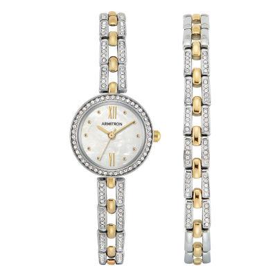 Armitron Womens Two Tone Bracelet Watch-75/5528mpttst