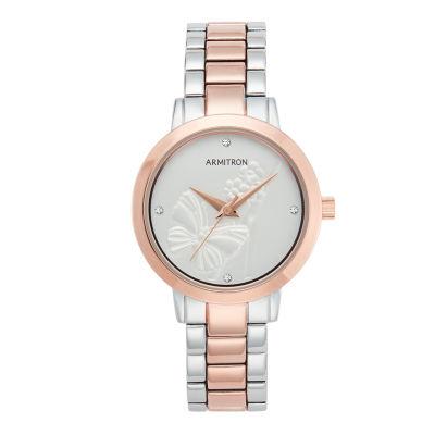 Armitron Womens Two Tone Bracelet Watch-75/5510svtr