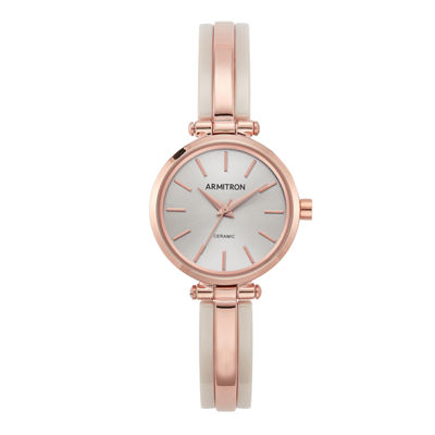 Armitron Womens Rose Goldtone Bangle Watch-75/5523bhrg