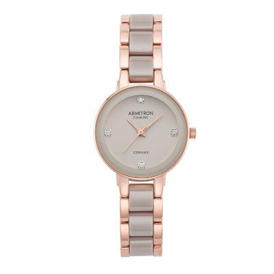 Armitron Womens Rose Goldtone Bracelet Watch-75/5532tprg