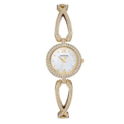 Armitron Womens Gold Tone Bracelet Watch-75/5536mpgp