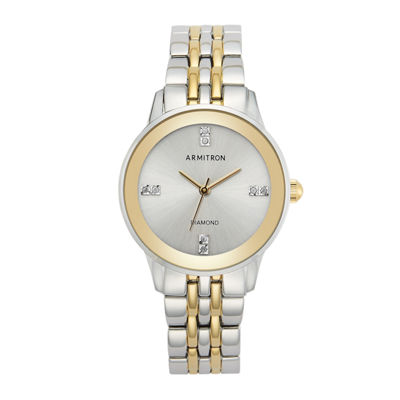 Armitron Womens Two Tone Bracelet Watch-75/5538svtt