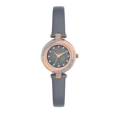 Armitron Womens Gray Strap Watch-75/5542gmrggy