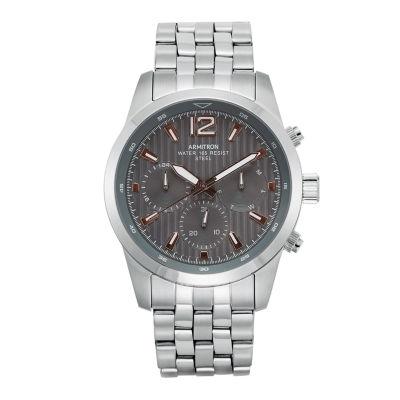 Armitron All Sport Mens Silver Tone Bracelet Watch-20/4991gysv