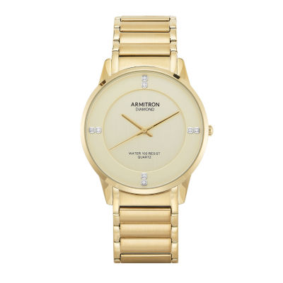 Armitron All Sport Mens Gold Tone Bracelet Watch-20/5246chgp