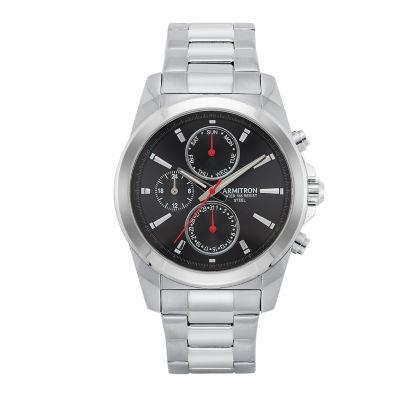 Armitron All Sport Mens Silver Tone Bracelet Watch-20/5250bksv
