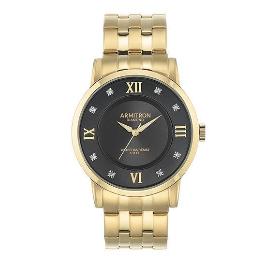 Armitron All Sport Mens Gold Tone Bracelet Watch-20/5251bkgp
