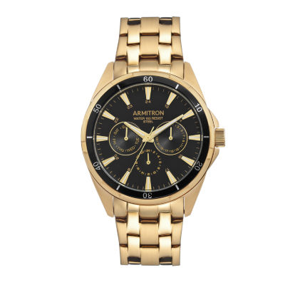 Armitron All Sport Mens Gold Tone Bracelet Watch-20/5256bkgp