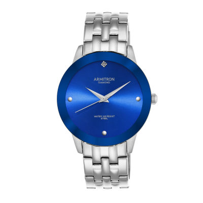 Armitron All Sport Mens Silver Tone Bracelet Watch-20/4952blsv