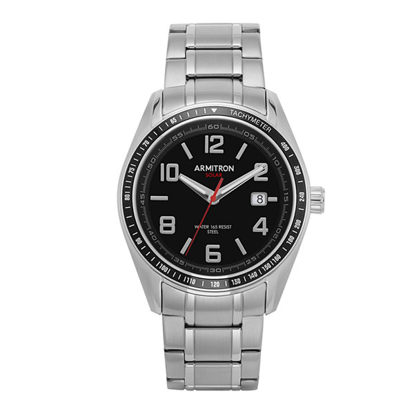 Armitron All Sport Mens Silver Tone Bracelet Watch-20/5252bksv