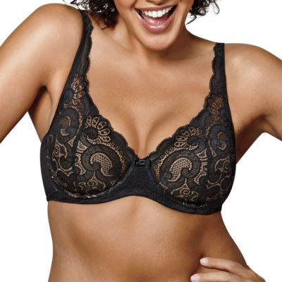 Playtex Foam Lace Plunge Full Coverage Bra-Us4514