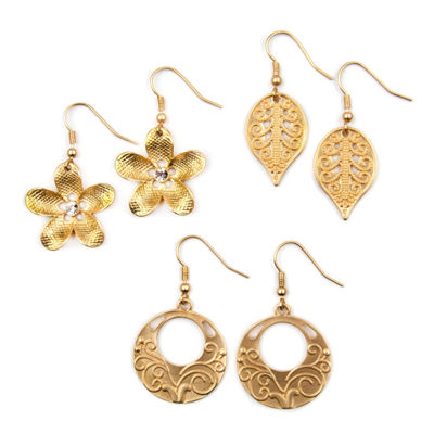 Decree 3 Pair Clear Earring Sets