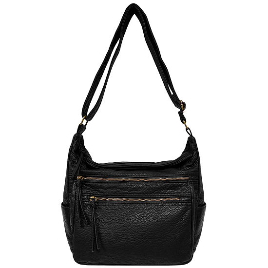 St Johns Bay Vintage Zip Hobo Bag