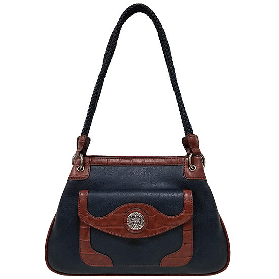 St. John's Bay Textured Double Handle Tote Bag