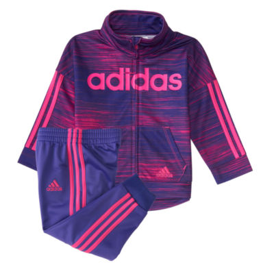 adidas 2-pc. Stripe Pant Set Baby Girls