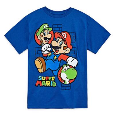 Super Mario Graphic Short Sleeve T-Shirt-Big Kid Boys