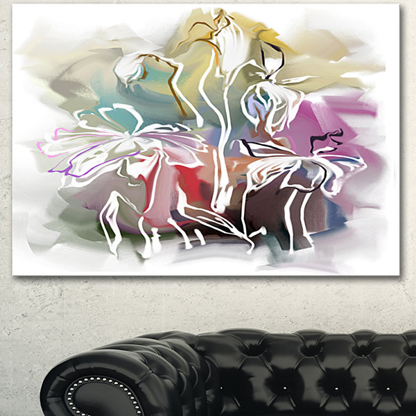 Designart Bunch Of Abstract Textured Flowers ExtraLarge Floral Wall Art - 3 Panels