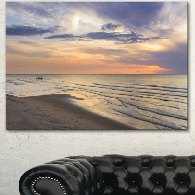 Designart Calm Sunset In Thailand Beach LandscapeCanvas Art Print