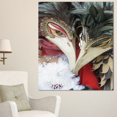 Designart Carnival In Venice In Italy Floral Canvas Art Print - 3 Panels