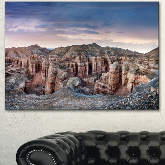 Designart Charyn Canyon In Kazakhstan Large Landscape Canvas Art