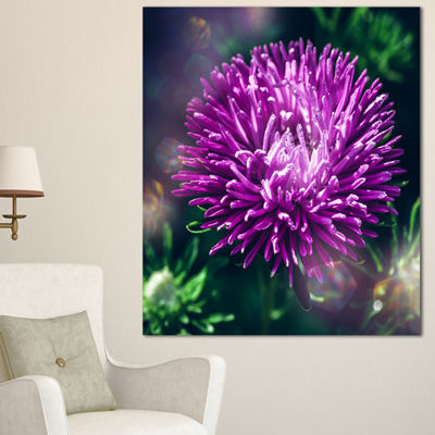 Designart Chrysanthemum Flower With Bokeh FlowersCanvas Wall Artwork - 3 Panels
