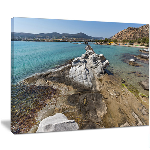 Designart Clean Waters And Rock Formations LargeLandscape Canvas Art