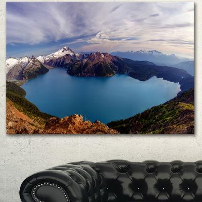 Designart Clear Lake With Bright Sky Extra LargeLandscape Canvas Art Print