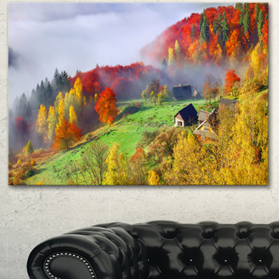 Designart Colorful Autumn Landscape In MountainsLarge Landscape Canvas Art Print