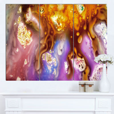 Designart Colorful Precious Patterns Abstract Canvas Art Print - 3 Panels
