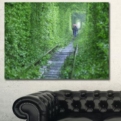 Designart Couple Walking Into Tunnel Landscape Canvas Art Print