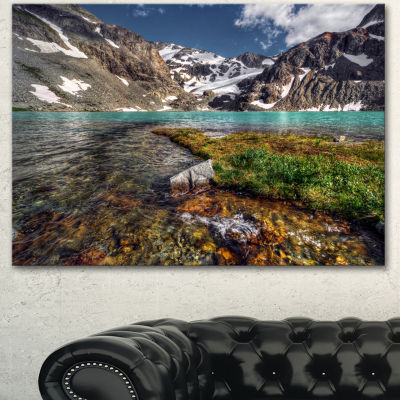 Designart Crystal Clear Creek In Mountains Large Landscape Canvas Art Print