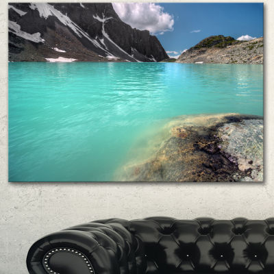 Design Art Crystal Clear Mountain Lake Landscape Canvas Art Print